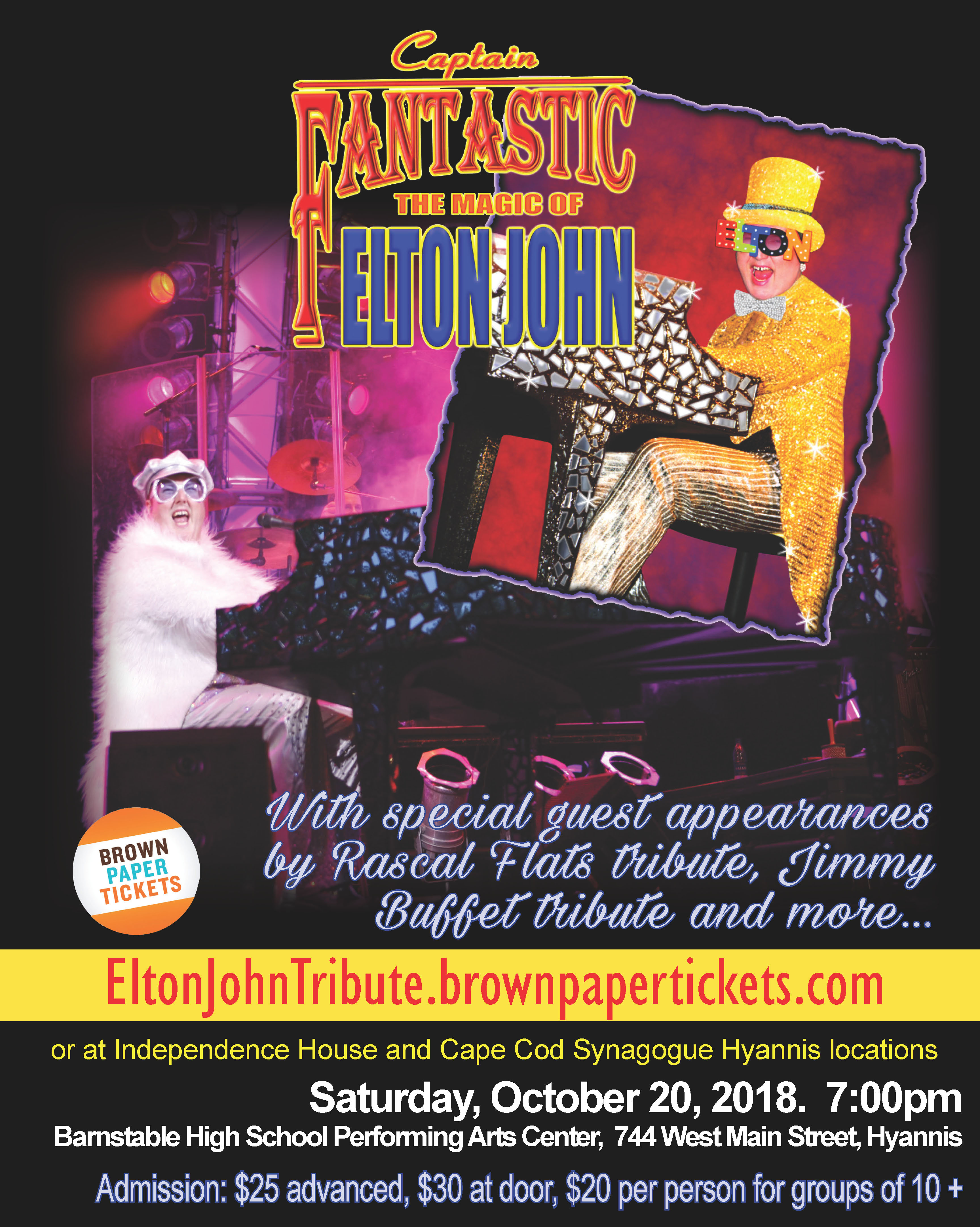Captain Fantastic-Elton John Tribute Concert @ Barnstable Performing Arts Center