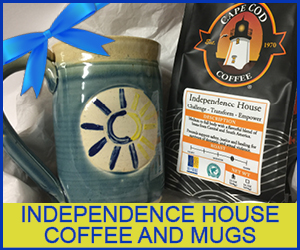 Independence House Coffee and Mugs available for the Holidays