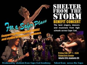 Cape Cod Academy presents Shelter From the Storm to benefit Independence House @ Tilden Performing Arts Center at Cape Cod Community College
