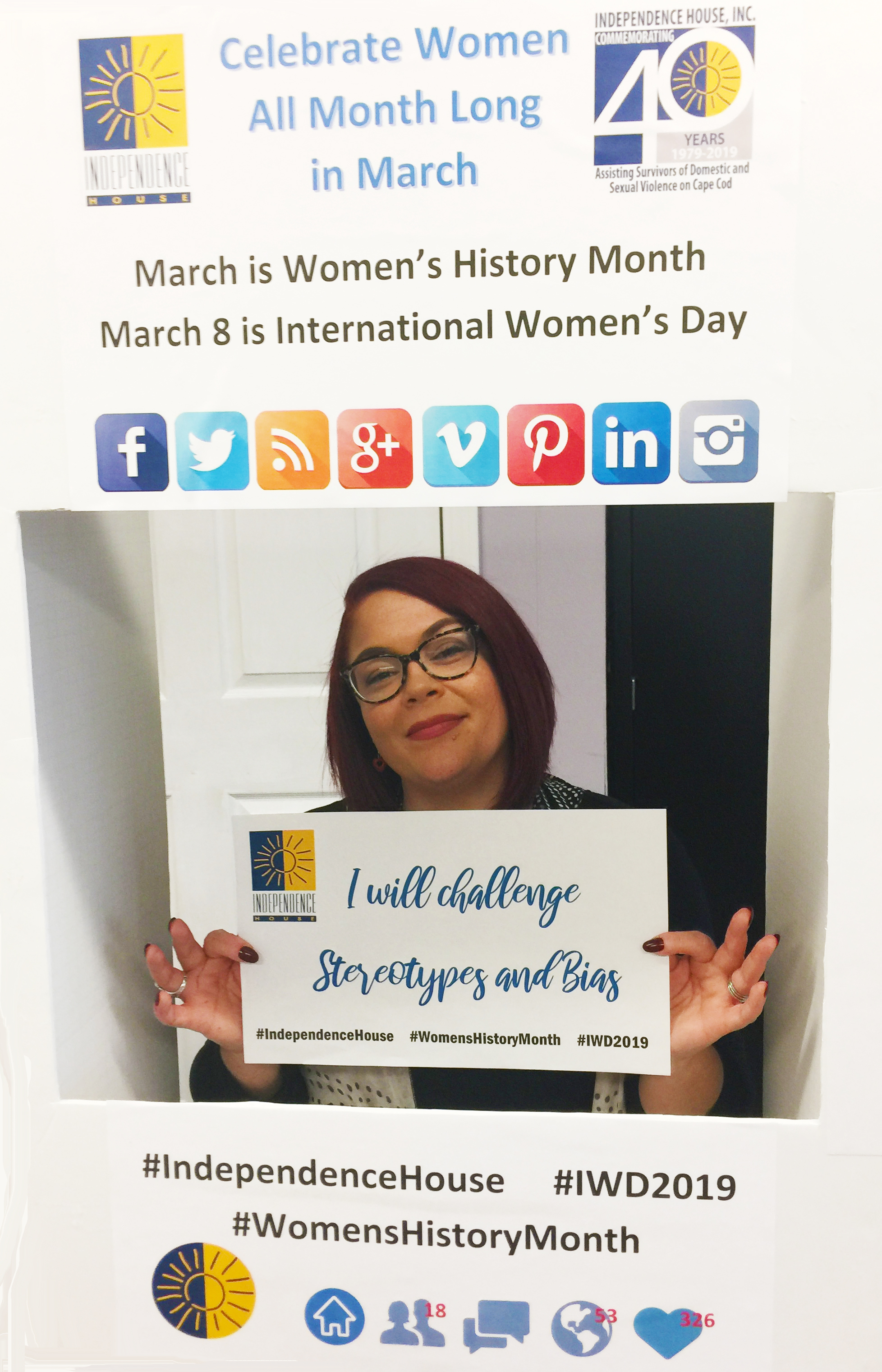 Celebrate Women during Women's History Month with your social media selfie