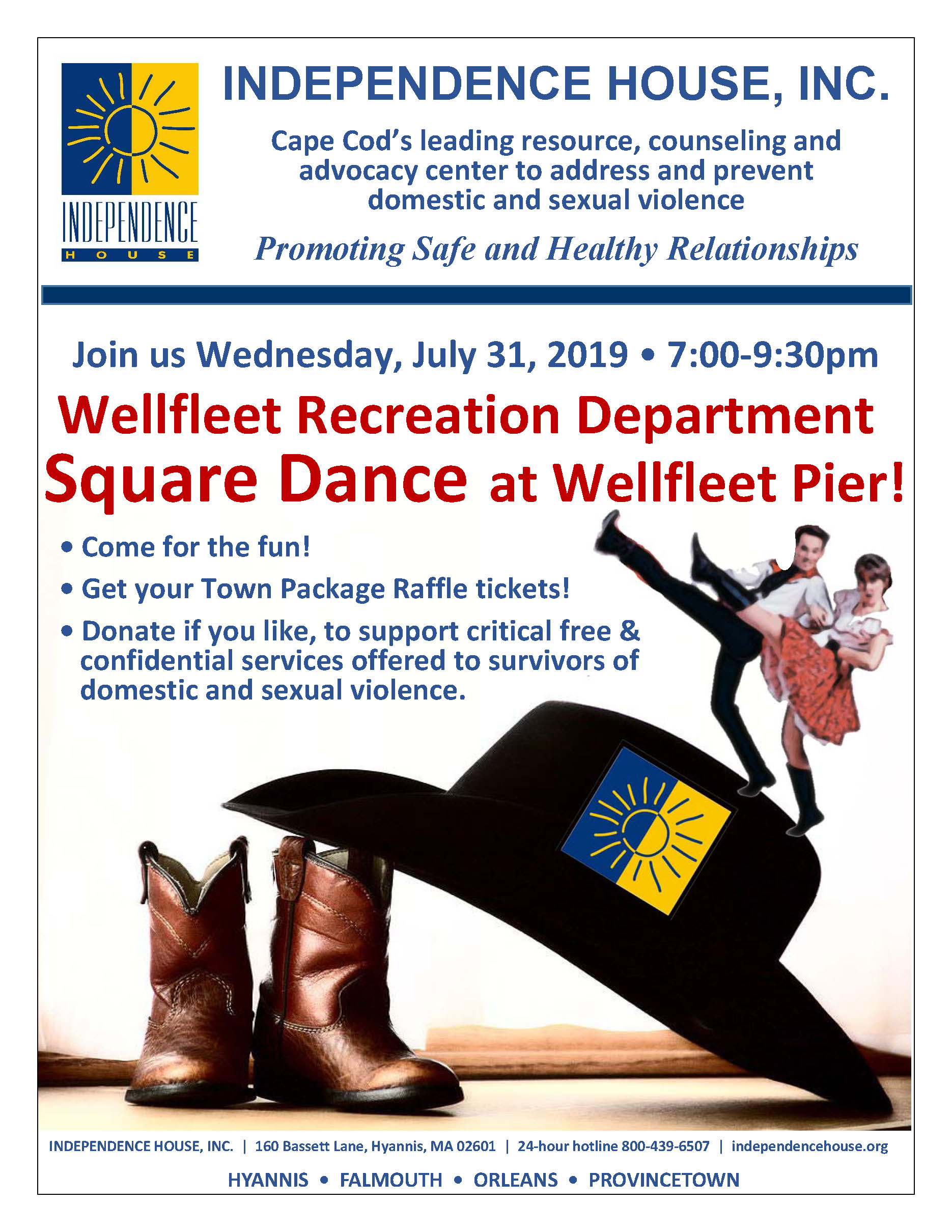 Square Dance with Independence House at the Wellfleet Pier @ Wellfleet Pier