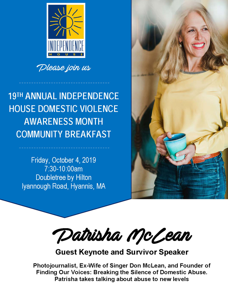 Patrisha McLean Keynote and Survivor speaker at 19th Annual Domestic Violence Community Breakfast @ Doubletree by Hilton