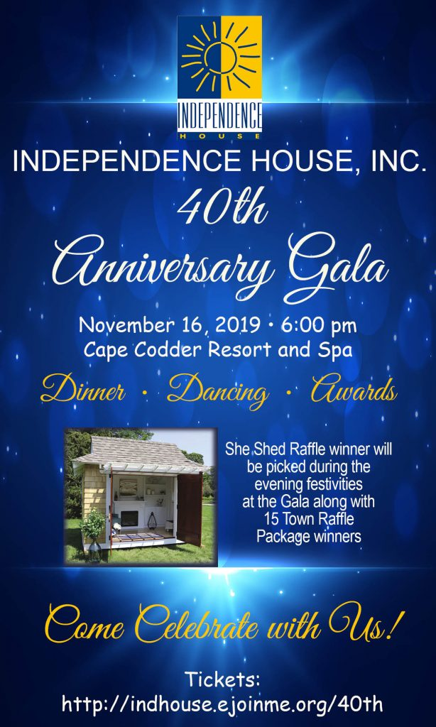 Independence House 40th Anniversary Gala @ Cape Codder Resort and Spa