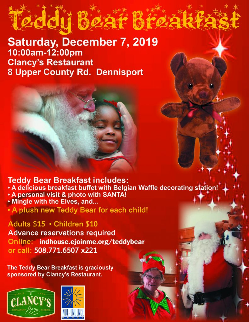 5th Annual Teddy Bear Breakfast @ Clancy's Restaurant