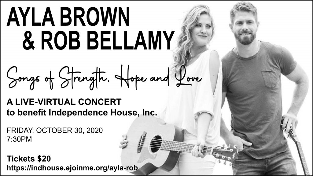 Ayla Brown & Rob Bellamy: Songs of Strength, Hope & Love @ Virtual